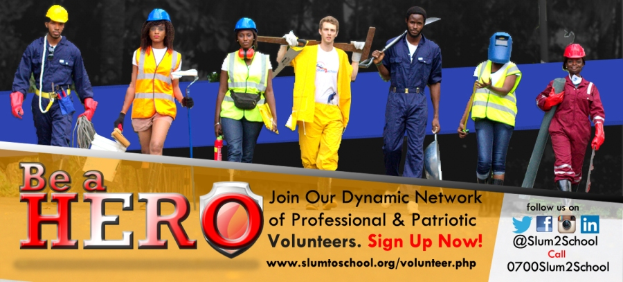 Slum2School Africa... Banner.. Volunteer driven Educational organization